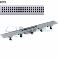 Трап душевой с решеткой хромированной PlastBrno DESIGN 1 SZE1850 900 мм